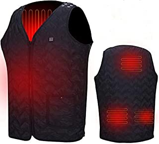 featured product Heated Vest, Washable Size Adjustable USB Charging Heated Warm Vest for Outdoor Camping Hiking Golf (Battery Not Included) Black