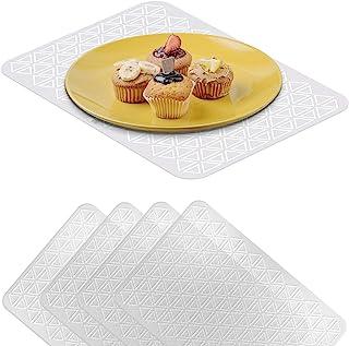 VILSTO Set de Table Plastique, Tapis de Table Transparente a Manger, Napperons pour Cuisine, Salle à Manger, Protection Ta...