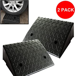 Reliancer 2 Rubber Curb Ramps Heavy Duty 44000 lbs Threshold Ramp Professional Grade Loading Ramps Car Slope Ramp Motorcycle Ramp for Loading Dock Driveway Vehicles SUV Truck Forklifts Wheelchair Bike