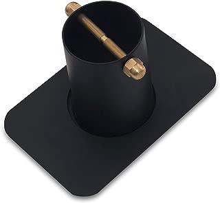Monarch Rain Chains 18042 2-Piece Kit Aluminum Gutter Adaptor with Brass Bolt for Rain Chain Installation, Adapter, Black Powder Coated (Standard Size)