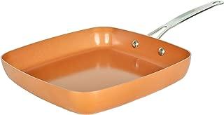 MasterPan Copper tone 9.5-inch Ceramic Non-stick Square fry pan