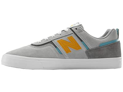 New Balance Numeric 306 (Grey/Yellow) Skate Shoes