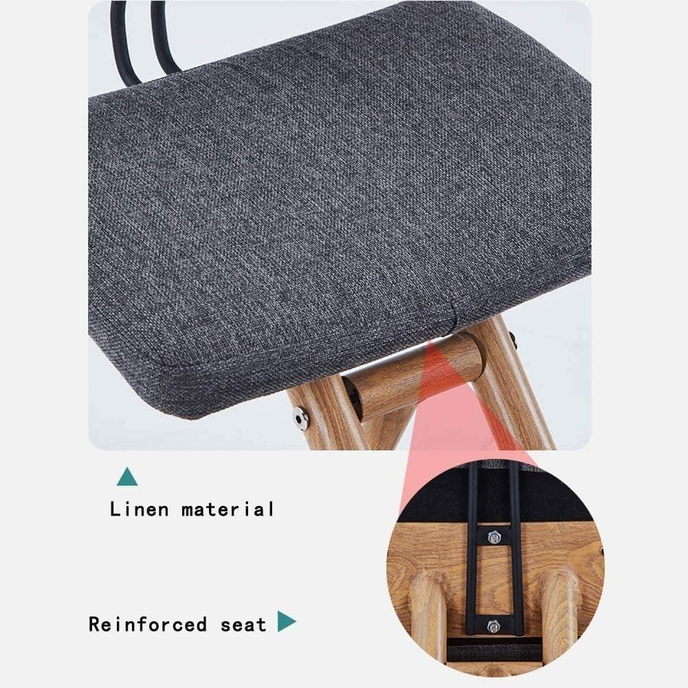 SMLZV Genoux Président, Design ergonomique, avec épais rembourré Coussin de genou, réglable Posture orthopédique Tabouret en bois, for adultes/enfants (Color : D) A