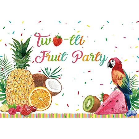 YEELE 7x5ft Cartoon Toucan Backdrop Summer Fruits Photography Background Summer Watermelon Pineapple Happy Birthday Party Decoration Infant Newborn Artistic Portrait Photobooth Props Wallpaper