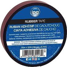 "IPG Rubber Tape, 0.75"" x 22 ft, Black (Single Roll)"