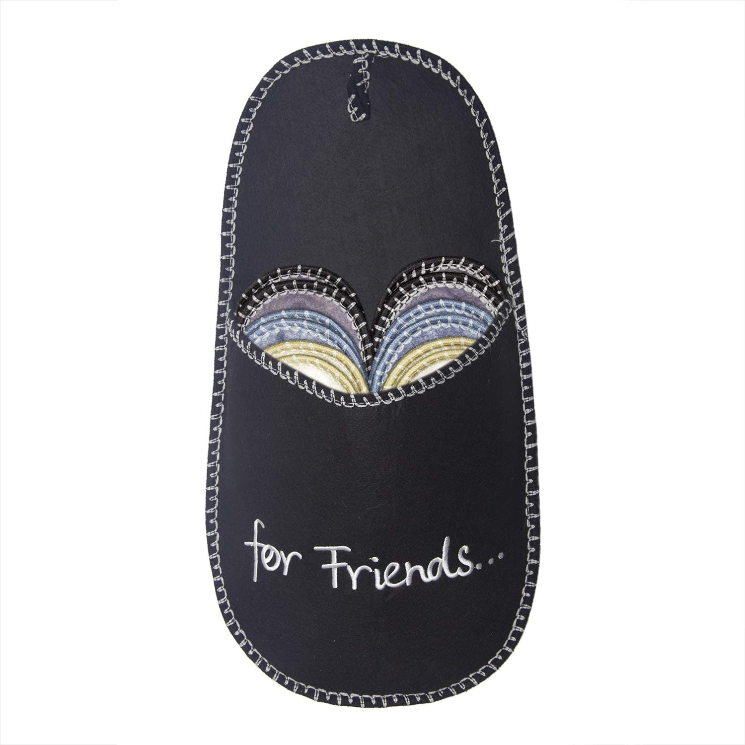 SLIPPERTREND Fleece Felt Close Toe 6 Pairs for Friends Non Slip Indoor Family House Guest Slippers Set for Shoeless Home