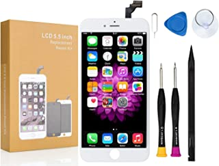 Compatible with iPhone 6 Screen Replacement White COASD LCD Digitizer Touch Screen Assembly Set Model No.A1549 A1586 A1589 (White)