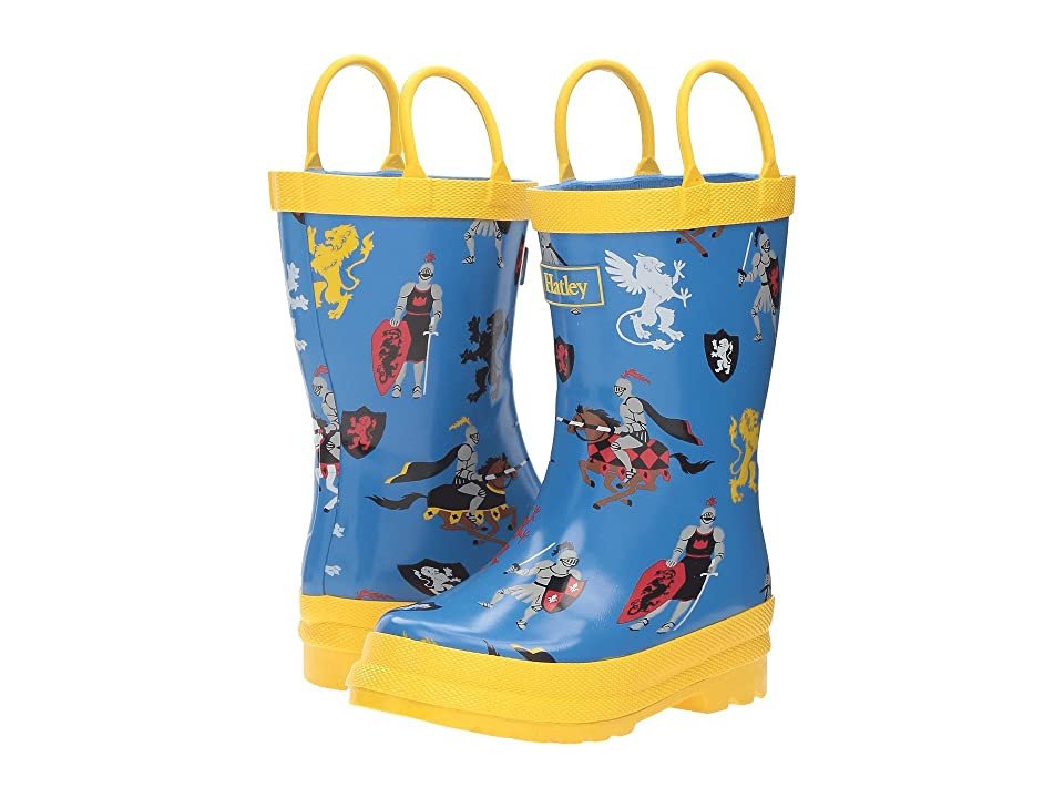 Hatley Kids Medieval knights Rain Boots (Toddler/Little Kid) (Blue) Boys Shoes