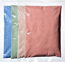 カラーサンド 各200g ライトブルー×ライトグリーン×クリーム×タンの4色セット 細粒(0.2mm程度の粒) Sタイプ #日本製