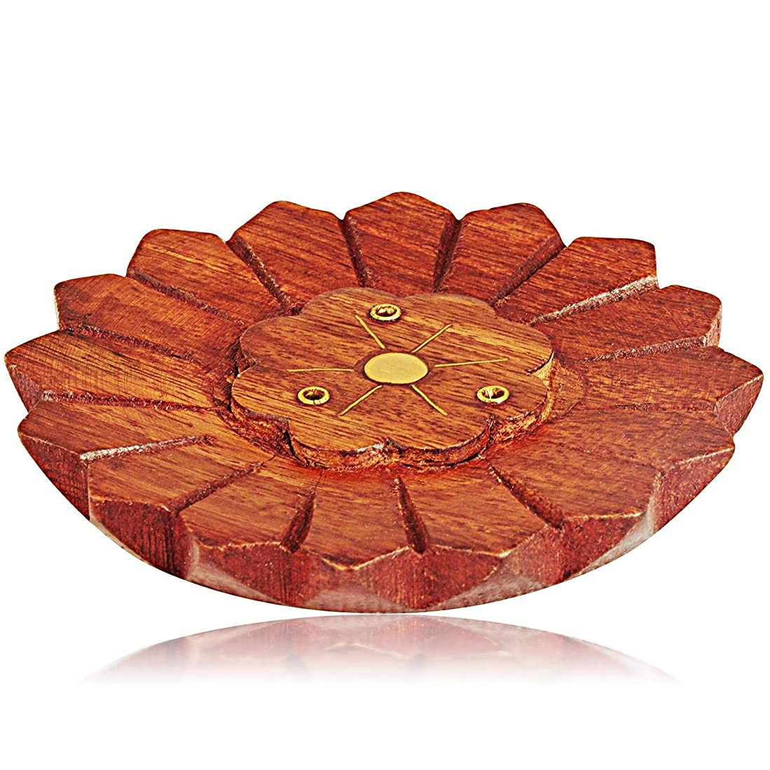 優しさ超えてギネス母の日ギフト木製お香スティックバーナーホルダー有機Eco Friendly AshキャッチャートレイAgarbattiホルダー素朴なスタイル手彫りの瞑想ヨガアロマテラピーHome Fragrance製品
