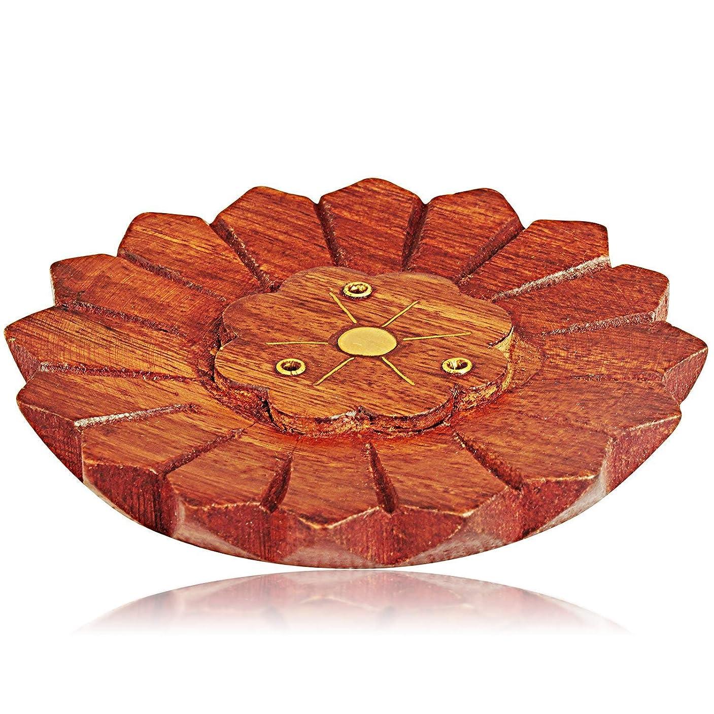 一口わかるとは異なり母の日ギフト木製お香スティックバーナーホルダー有機Eco Friendly AshキャッチャートレイAgarbattiホルダー素朴なスタイル手彫りの瞑想ヨガアロマテラピーHome Fragrance製品