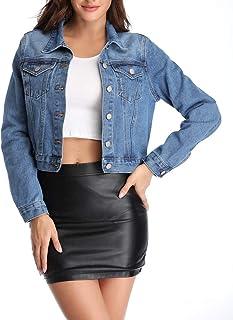 سترة جينز جينز حريمي من Anienaya بأزرار أساسية مغسولة مع جيبين على الصدر