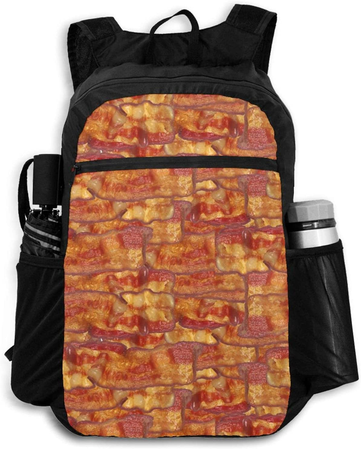 Zolama Bacon Food Backpacks ! Super beauty product restock quality top! for Ranking TOP5 Women Packable Cute Men Daypack