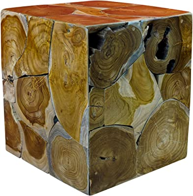 Tavolino da Salotto in Legno di Teak Kinaree 40 x 35 cm Naturale