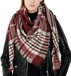 206bea526a414 Écharpe Femme Cachemire Chaud Foulards Longues Automne Hiver Grand Plaid  Tissu Glands Sunenjoy