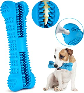 PTREWOD Dog Toothbrush Stick Silicone Puppy Chew Toys Bone Bite Resistant Dog Dental Chews Effective Teeth Cleaning for Small Medium Dogs
