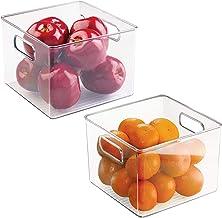 mDesign Juego de 2 Cajas organizadoras para Alimentos –