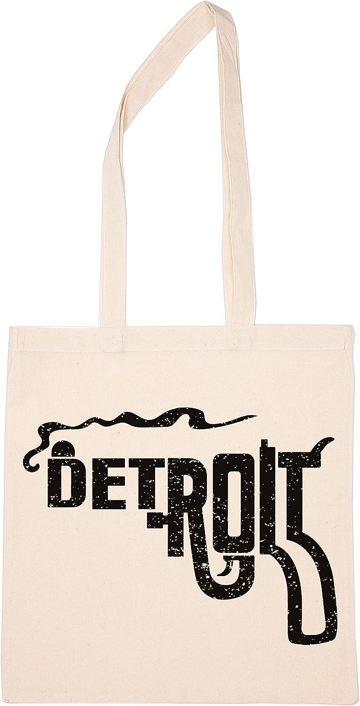 Enigmae Smoking Detroit Reutilizable Compras Tienda de Comestibles Algodón Bolsa Reusable Shopping Bag