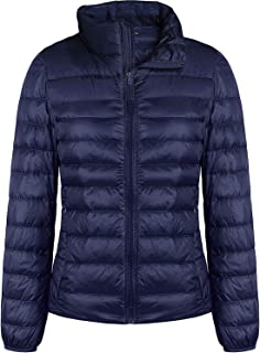 Women's Ultra Light Weight Water-Resistant Packable Stand Collar/Hooded Down Jacket