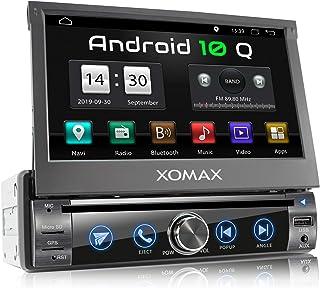 XOMAX XM DA759 Autoradio mit Android 10, QuadCore, 2GB RAM, 32GB ROM, GPS Navigation, DVD, CD I Support: WiFi WLAN, 3G 4G, DAB+, OBD2 I Bluetooth, 7 Zoll / 18 cm Touchscreen, USB, SD, AUX, 1 DIN