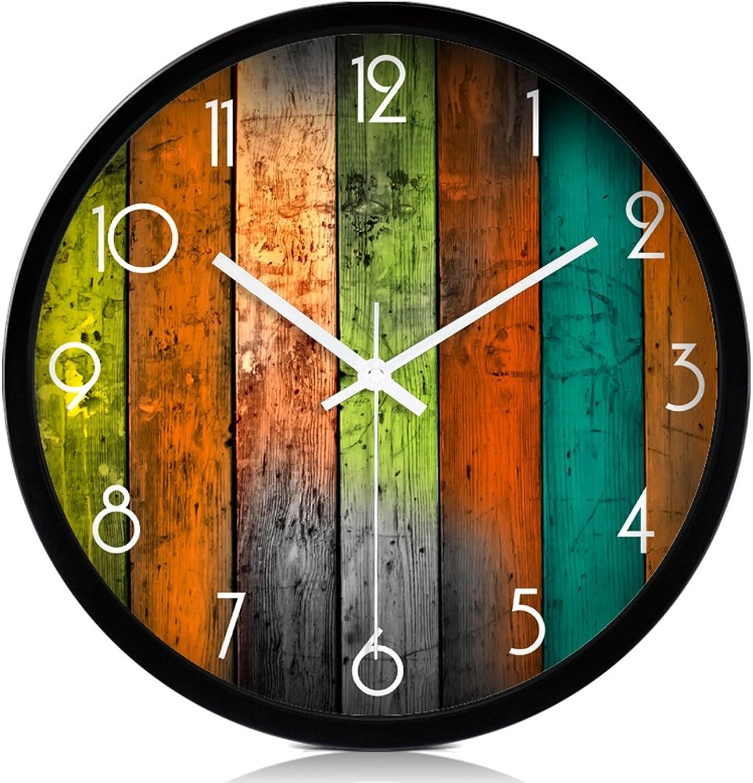 calidad fantástica HQCC Relojes creativos Modernos, Relojes de Parojo de Moda Moda Moda de 12 Pulgadas, decoración de Arte Sala de Estar Dormitorio Tranquilo Reloj de Parojo (Color   negro, Talla   35cm)  precioso