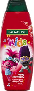 Palmolive Kids 3 in 1 Hypoallergenic Hair Shampoo, Conditioner and Body Wash Trolls Merry Strawberry, 350mL