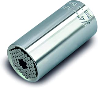 Cartrend 10437 Universal kontakt multi insättning hylsnyckel mutter 12,7 mm (1/2 tum), SW 9–27 mm av kromvanadin