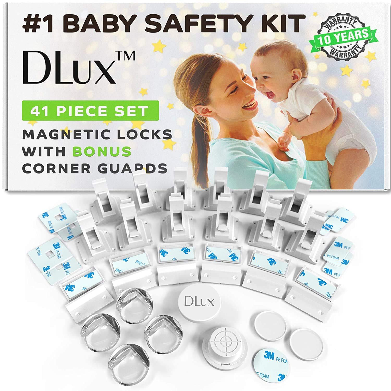 Magnetic Cabinet Locks Child Safety Weekly update Upgrad Kit New Colorado Springs Mall 41-Piece with
