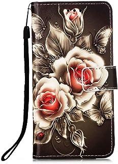 جراب محفظة EnjoyCase لهاتف Samsung Galaxy A52، جراب قلاب ممغنط مع حزام يد لهاتف Samsung Galaxy A52