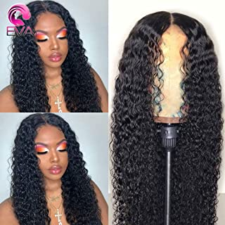 Eva Curly 360 Lace Frontal Wig Pre Plucked With Baby Hair 250% Density Lace Front Human Hair Wigs For Women Brazilian Virgin Hair 18 inch