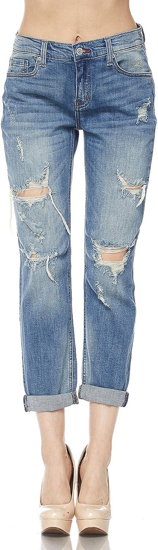 FASHION BOOMY Women's High Waisted Stretch Skinny Denim Jeans