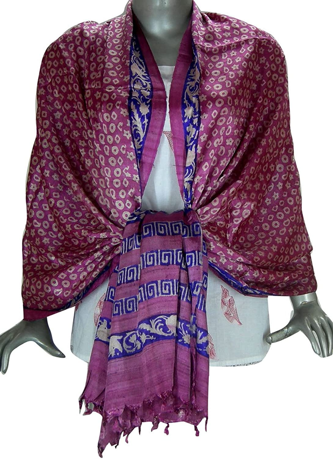 Evening Indian Silk Clothing Printed Scarves for Women