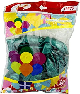 Rosymoment 12-inch Metallic balloon 40 Pieces, color dark green MB-40D.G