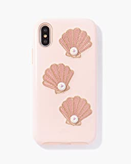 Sonix Shelly Pearl Case for iPhone X/XS [Military Drop Test Certified] Protective Patent Leather Millennial Pink Case for Apple iPhone X, iPhone Xs