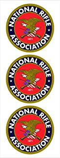 "(3) 2"" Round NRA National Rifle Association Logo Car Decal Sticker Vinyl American USA Merica United States Helmet Toolbox Hardhat"