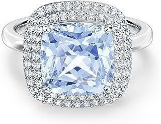 SWAROVSKI Authentic Angelic Ring, Blue, Rhodium Plated, Size 6