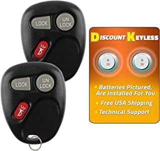 Discount Keyless Replacement Key Fob Car Entry Remote For Sierra Yukon Tahoe Silverado Suburban KOBLEAR1XT, 15042968 (2 Pack)
