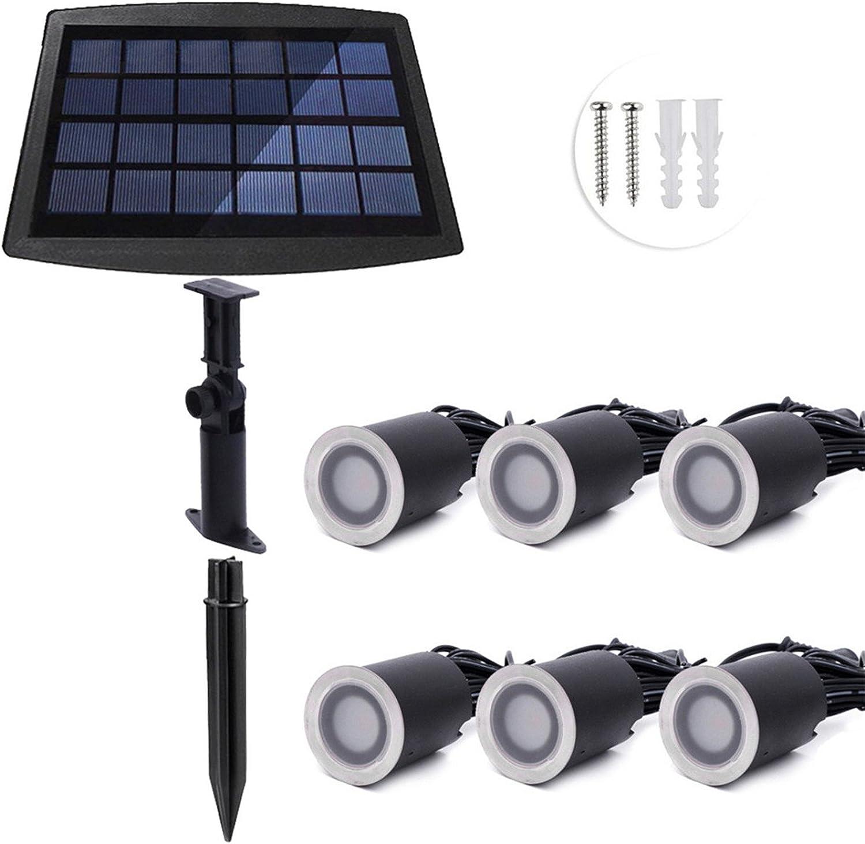 Rongjuyi 6 LED 3000K   4000K imprgniern LED-Solarweg beleuchtet Garten-Landschaftsspitzen-Beleuchtung für Yard-Fahrstraen-Rasen-Bahn-solarbetriebene Boden-Lichter im Freienlampe