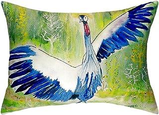 """Betsy Drake NC931 Dancing Crane No Cord Pillow,,16"""" X20"""""""