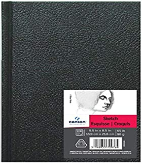 Canson Artist Series Sketch Book Paper Pad, for Pencil and Charcoal, Acid Free, Hardbound, 65 Pound, 5.5 x 8.5 Inch, 100 S...