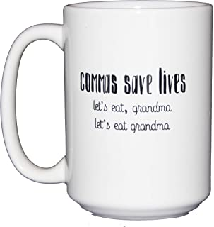 Commas Save Lives - Let's Eat Grandma Funny Coffee Mug for Grammar Police - English Teacher Gift