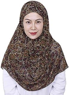 LMVERNA Solid Color Bubble Chiffon Scarf Women Muslim Hijab Long Scarf wrap Scarves