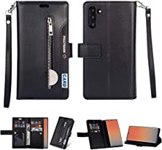 for Samsung Galaxy S7 Edge (5.5inch) Leather Case [Vintage Zipper] Multiple Card Slots PU Leather Magnetic Folio Flip Wallet Case Purse, Portable Sling, Stand SupportSling, Stand Support