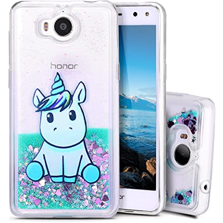 Cover Huawei Nova Young Custodia, MoEvn Unicorno 3D Glitter Liquido Trasparente Sabbie Mobili Morbida TPU Silicone Protezione Case per Huawei Nova ...