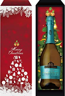 【Amazon.co.jp限定】 【シャンパンより売れている クリスマス スパークリング ワインギフト】ヴィッラ サンディ プロセッコ DOC トレヴィーゾ イルフレスコ エクストラドライ [辛口 イタリア 750ml ] [ギフトBox入り] スパークリング 11度 辛口 ライトボディ イタリア 750ml瓶 ギフトボックス入り