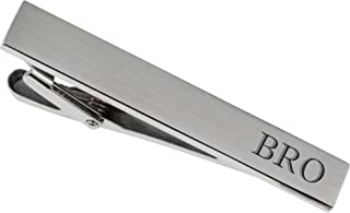 Personalized Brushed Silver Tie Clip Custom Engraved Free