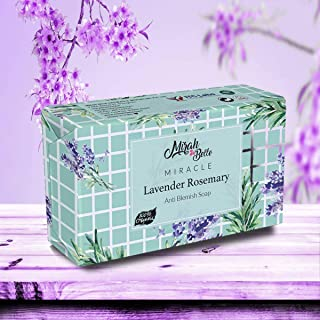 Mirah Belle - Organic Lavender Rosemary Anti - Blemish Soap Bar - Anti Acne, Blemishes and Infection - Vegan and Cruelty F...