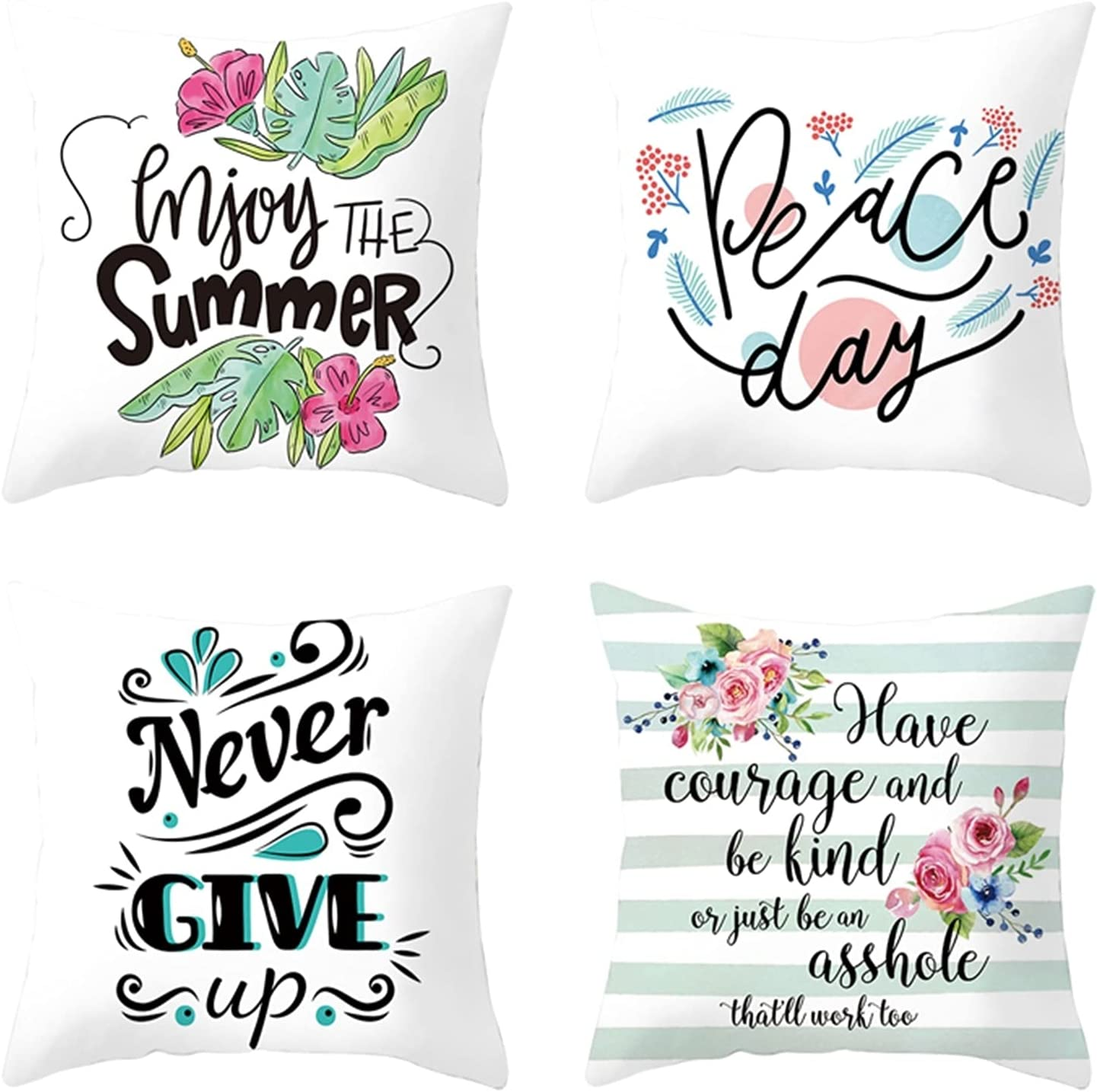 Fees free!! 67% OFF of fixed price Daesar Decorative Pillow Case Throw 4 Blue Pack Gre