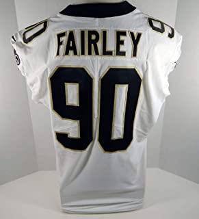 2017 New Orleans Saints Nick Fairley #90 Game Issued White Jersey - Unsigned NFL Game Used Jerseys