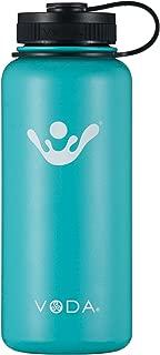 VODA Flask Insulated Flask, Cyan, 32 oz.